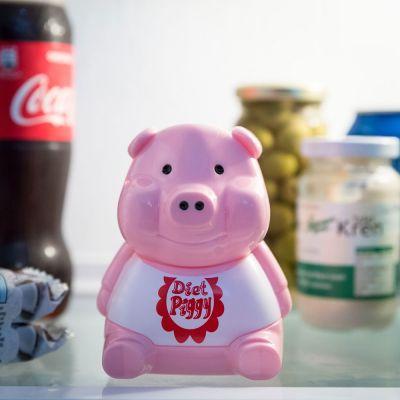 Cadeau Anniversaire Copine - Alarme pour réfrigérateur Piggy Diet