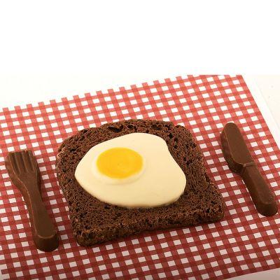 Cadeau anniversaire papa - Bacon & Œuf au plat en Chocolat