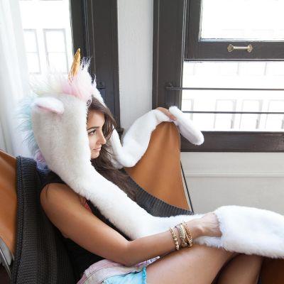 Mardi Gras - Capuchon licorne