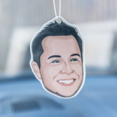 Cadeau maman - Désodorisant de Voiture - Elon Musk