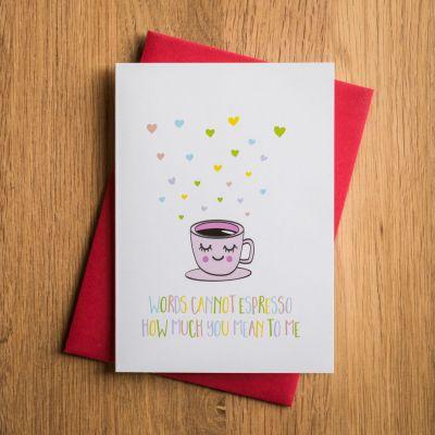 Cadeau Saint Valentin Homme - Carte de Saint Valentin – Espresso