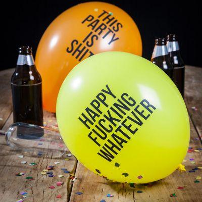 Mardi Gras - Ballons drôles et méchants - Pack de 12