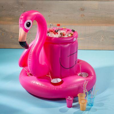 Cadeau 18 ans - Mini-Bar Gonflable Flamant
