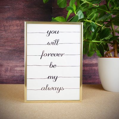 Cadeau mariage - Poster You Will Forever