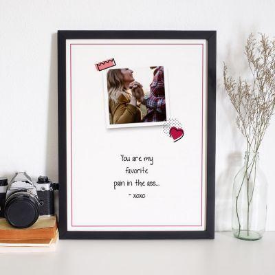 Idées cadeaux pour mettre dans le calendrier de l'avent - Poster Photo Personnalisable - Citation