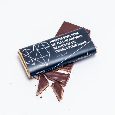 Cadeau d'adieu - Chocolat Personnalisable avec Texte
