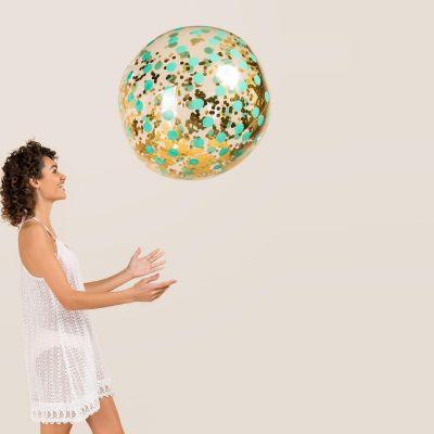 Maison et habitat - Ballon de Plage Géant avec Confettis