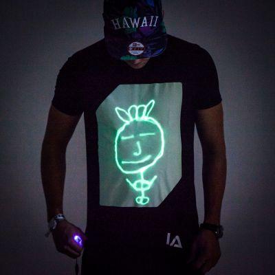 Cadeau d'Halloween - Glow T-shirt interactif