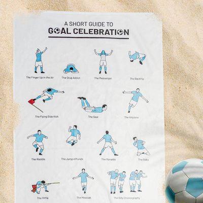 Cadeau 50 ans - Serviette avec les célébrations de buts