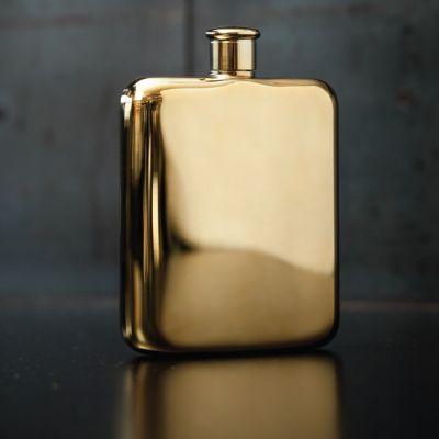 Cadeau anniversaire papa - Flasque Dorée