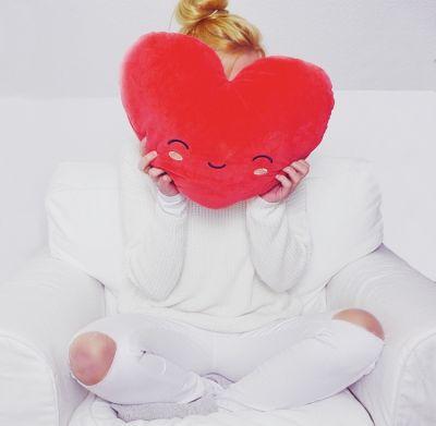 Cadeau mariage - Coussin Chauffant Cœur