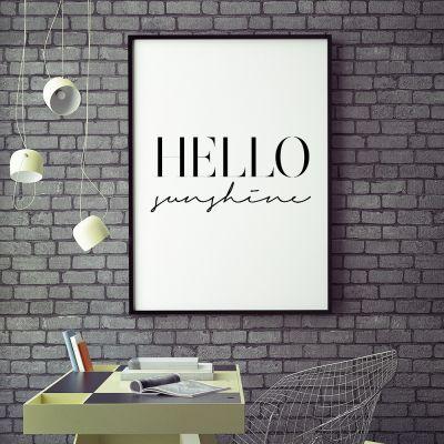 Poster - Hello Sunshine Poster par MottosPrint
