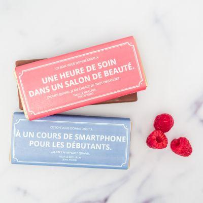 Cadeau maman - Bon Cadeau Personnalisable - Avec Chocolat