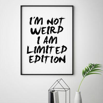 Poster - I Am Limited Edition Poster par MottosPrint