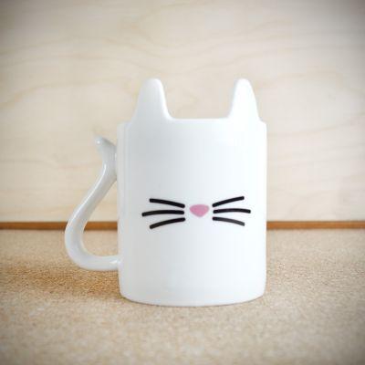 Verres & Mugs - Tasse Chat Blanc