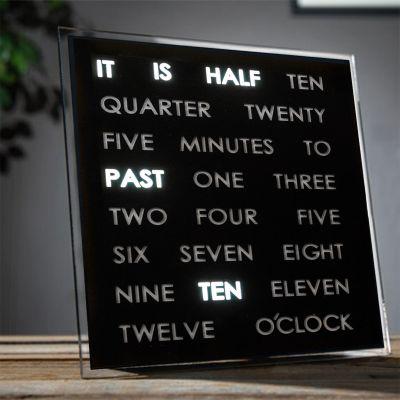 Cadeau couple - Horloges à mots LED
