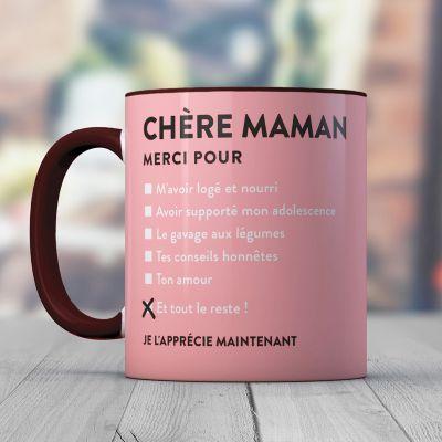 Idées cadeaux pour mettre dans le calendrier de l'avent - Tasse Chère Maman