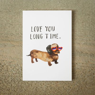 Cadeau romantique - Carte de vœux Love You Long Time