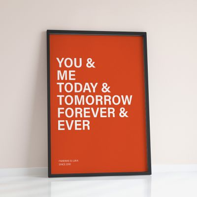 Poster - You + Me + … - Poster Personnalisable