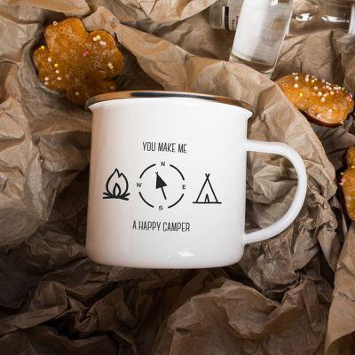 Verres & Mugs - Tasse Métal Happy Camper