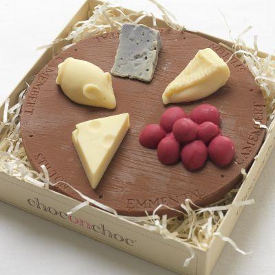Cadeau anniversaire papa - Plateau de fromages en Chocolat