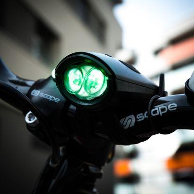 Sports Fun & Fitness - Klaxon de Vélo avec Lumière Mini Hornit