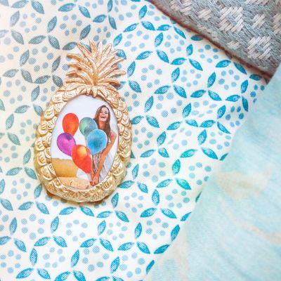 Cadeaux de Noël pour maman - Cadre Ananas