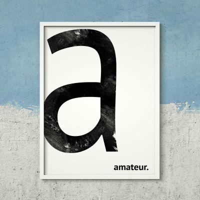 Cadeau couple - Poster Personnalisable - Monogramme
