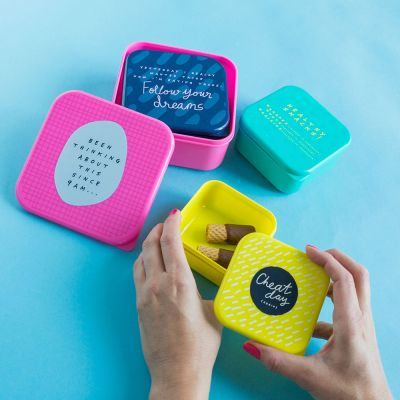 Cuisine & Barbecue - Lunchboxes empilables Notes To Self – Ensemble de 4