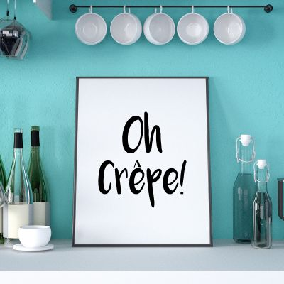 Poster - Affiche Oh Crêpe