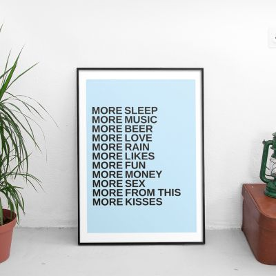 Cadeau couple - More - Poster Personnalisable