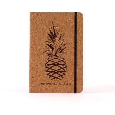 Cadeau 18 ans - Carnet en liège Personnalisable - Ananas