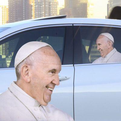 Cadeaux rigolos - Autocollant de voiture Pape