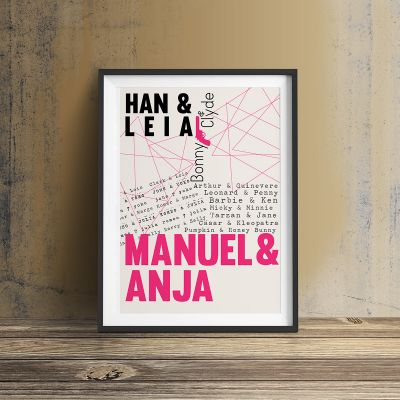 Cadeau couple - Amants célèbres - Poster Personnalisable