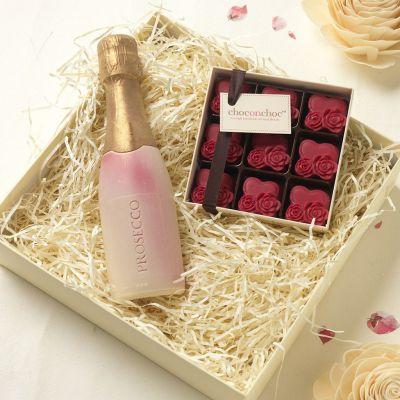 Cadeau Saint Valentin Homme - Chocolats Prosecco et Coeurs