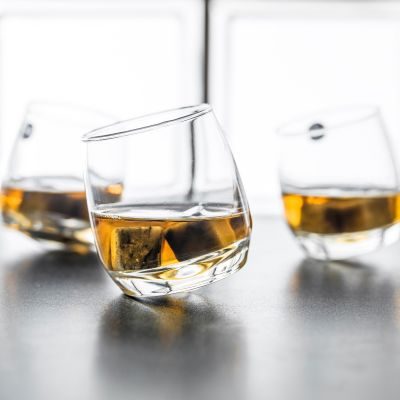 Cadeau Saint Valentin Homme - Verres à Whisky toupie (Set de 6 verres)