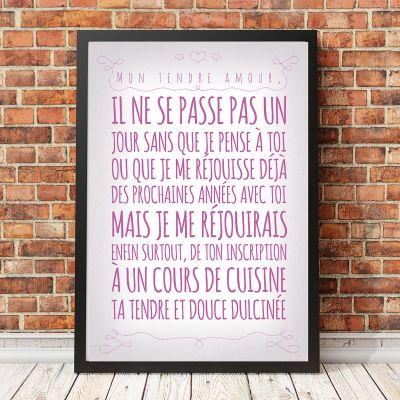 Poster personnalisable - Affiche Romantique personnalisable