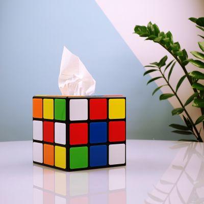 Cadeaux rigolos - Boîte à mouchoirs Rubik's Cube – Big Bang Theory