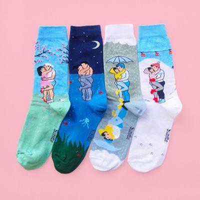 Idées cadeaux pour mettre dans le calendrier de l'avent - Chaussettes Tourtereaux