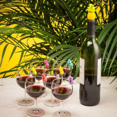 Idées cadeaux parents - Marqueurs de verres et Bouchon Ananas