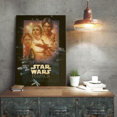 Poster - Poster métallique Star Wars – Un nouvel Espoir
