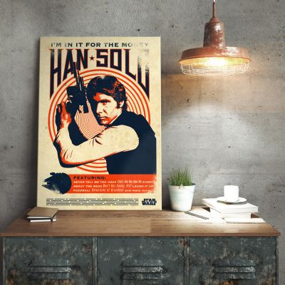 L'univers Star Wars - Poster métallique Star Wars – Han Solo Retro