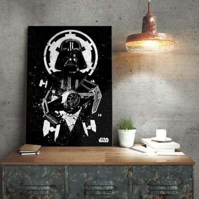Films & Télévision  - Poster métallique Star Wars – Tie Fighter Vador