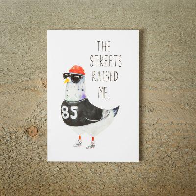 Cadeaux rigolos - Carte de vœux Street Pigeon