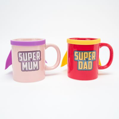 Cadeau anniversaire Homme - Tasse Super Mum & Super Dad