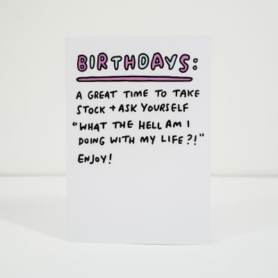 Cartes - Carte d'anniversaire Take Stock