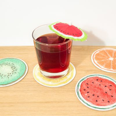 Cuisine & Barbecue - Sous-verres Fruits - Set de 4