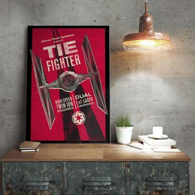 Cadeau anniversaire papa - Poster Métallique Star Wars - Tie Fighter