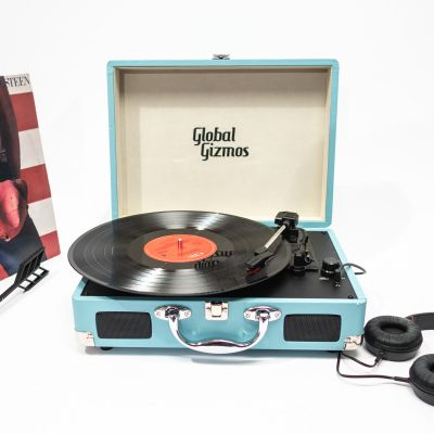 Cadeau anniversaire Homme - Retro Koffer Plattenspieler
