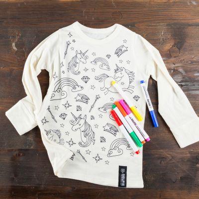 Cadeau Enfant - T-shirt Licorne à colorier